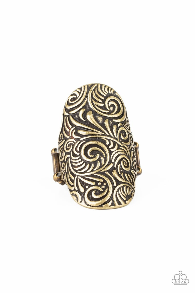 Paisley Paradise Brass Ring - Sparkle with Suzanna
