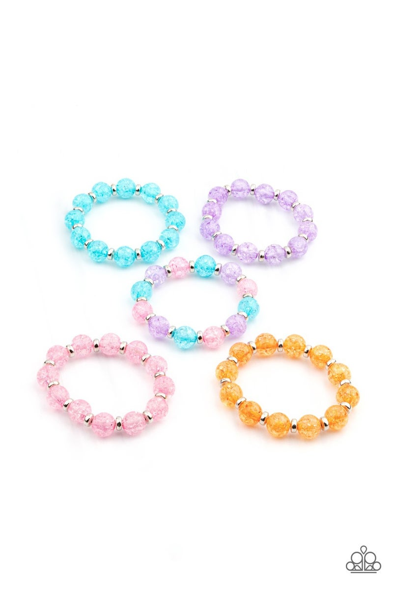 Starlet Shimmer Icy Bead Bracelets - 5 pack PREORDER