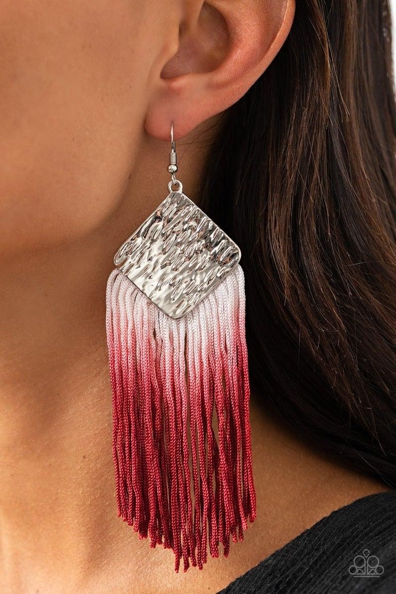 Dip The Scales Red Earrings