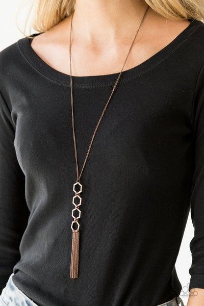 Ready Set GEO Copper Necklace