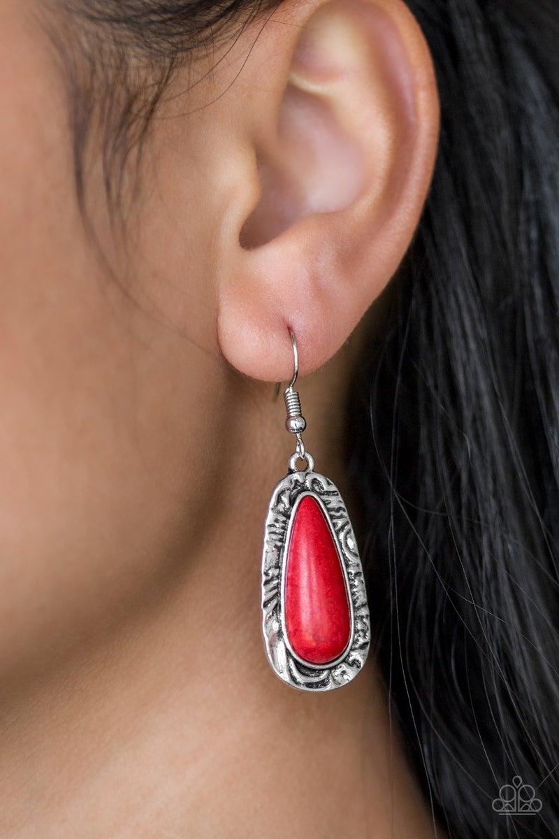 Cruzin Colorado Red Stone Earring