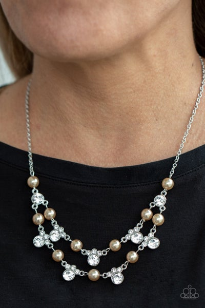 Royal Announcement Brown Pearl Necklace