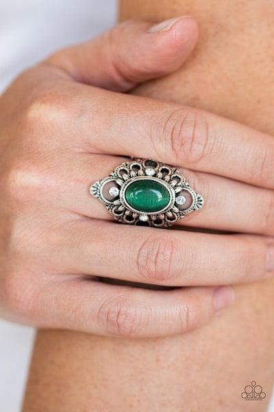 Elegantly Enchanted Green Ring