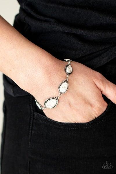 Elemental Exploration White Bracelet