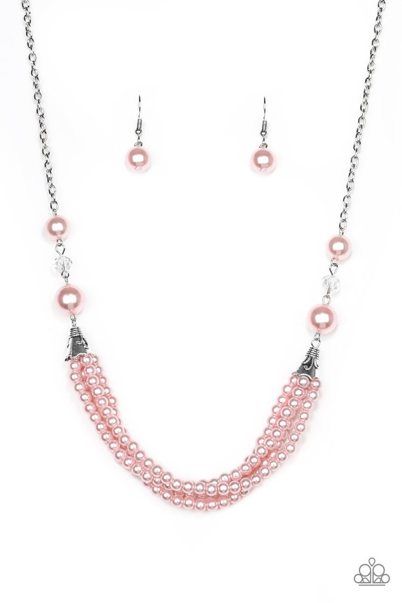 One-Woman Show Necklace Pink