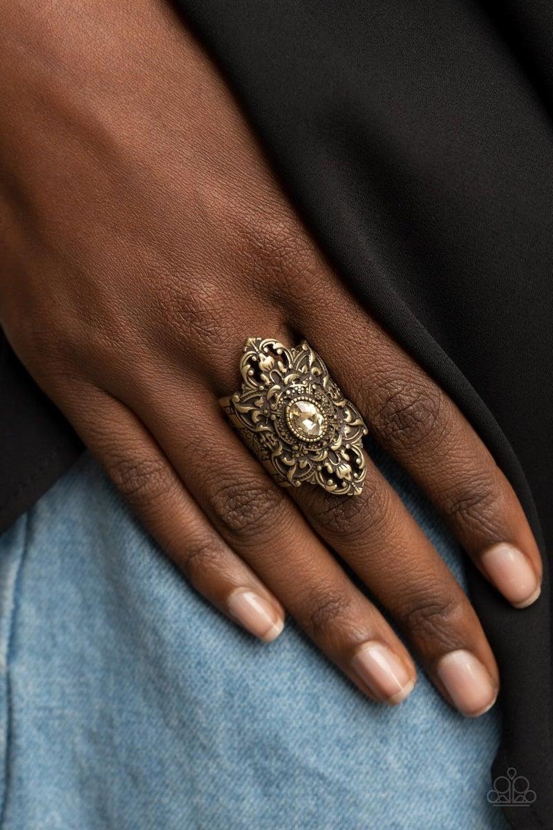 Perennial Posh Brass Ring- PREORDER