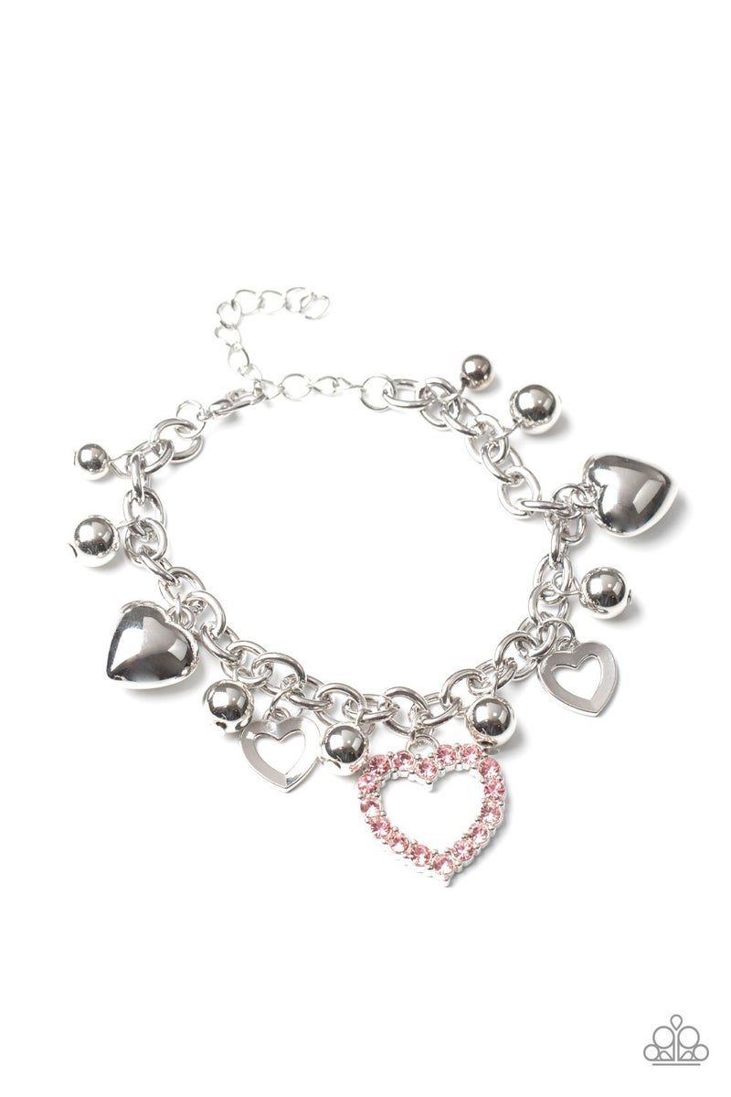 Beautifully Big-Hearted Pink Bracelet