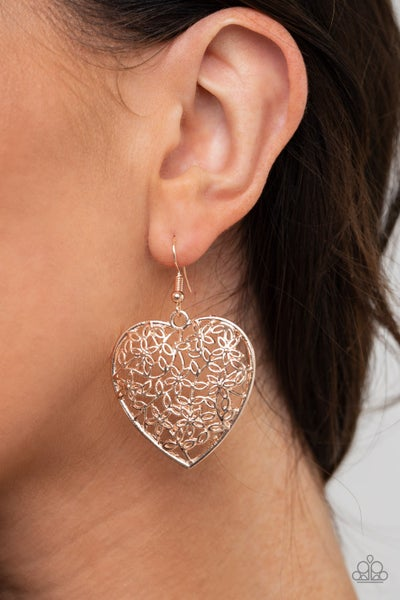 Let Your Heart Grow Rose Gold Earring