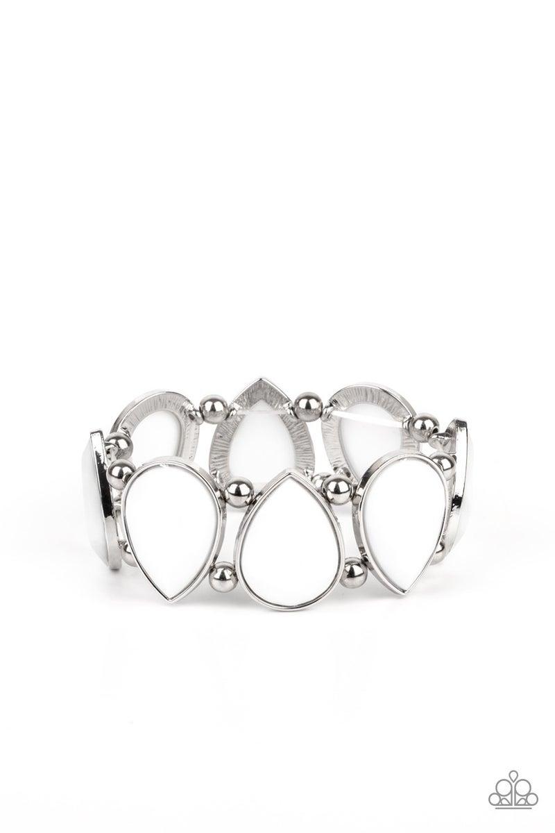 Flamboyant Tease White Bracelet - PREORDER
