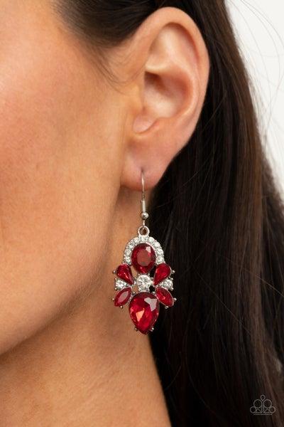 Stunning Starlet Red Earrings