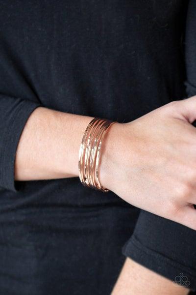 Timelessly Textured Gold Bracelet
