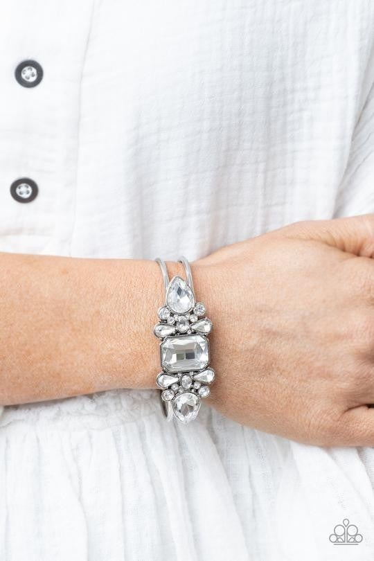 Call Me Old- Fashioned White Bracelet - Sold Out!