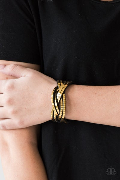 Looking for Trouble Gold Bracelet