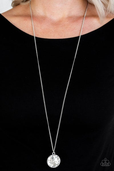 Dauntless Diva White Necklace - Sparkle with Suzanna