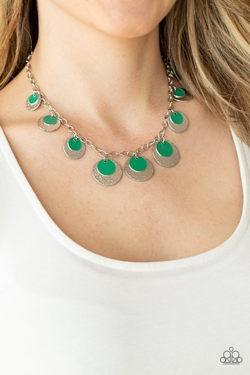 The Cosmos Are Calling Green Necklace