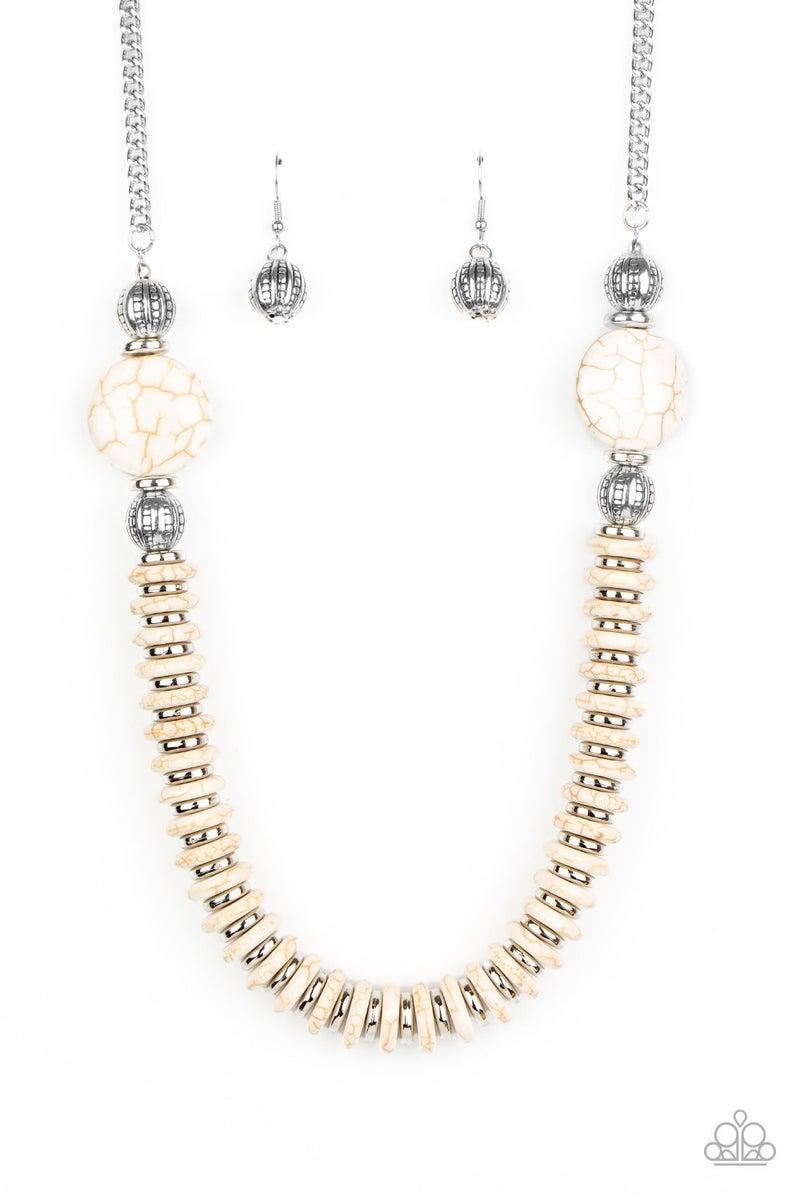 Desert Revival White Necklace