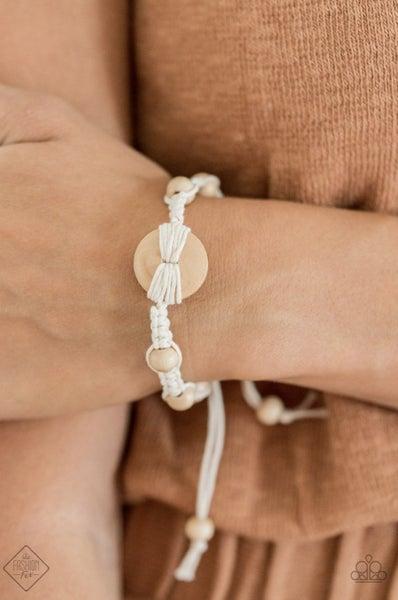 The Road Knot Taken White Bracelet