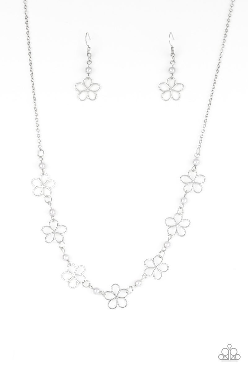 Always A Bloom Silver Necklace - Sparkle with Suzanna