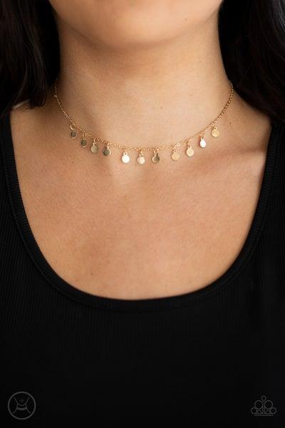 Ready, Set, DISCO Gold Choker Necklace
