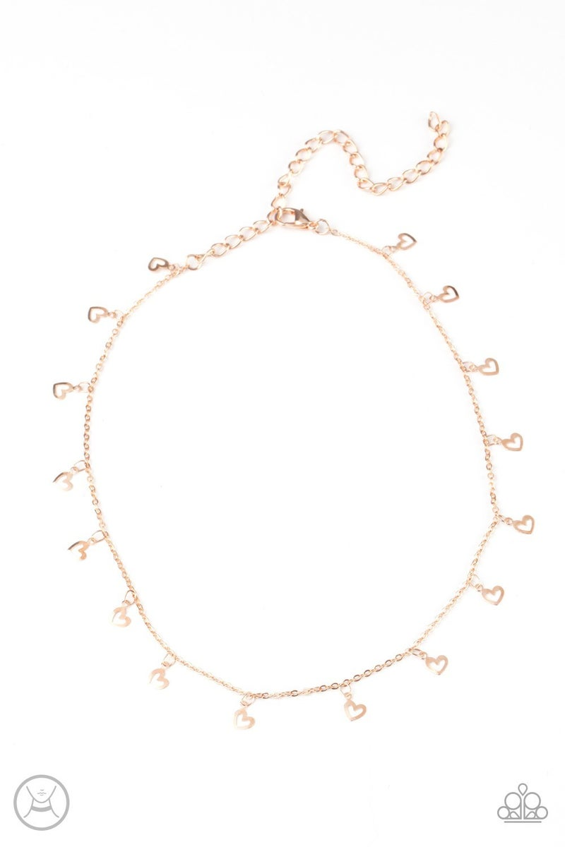 Charismatically Cupid Rose Gold Necklace - Sparkle with Suzanna