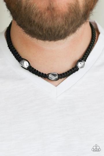 Riders Block  Black Urban Necklace