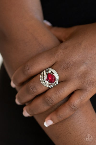 Stepping Up The Glam Red RIng