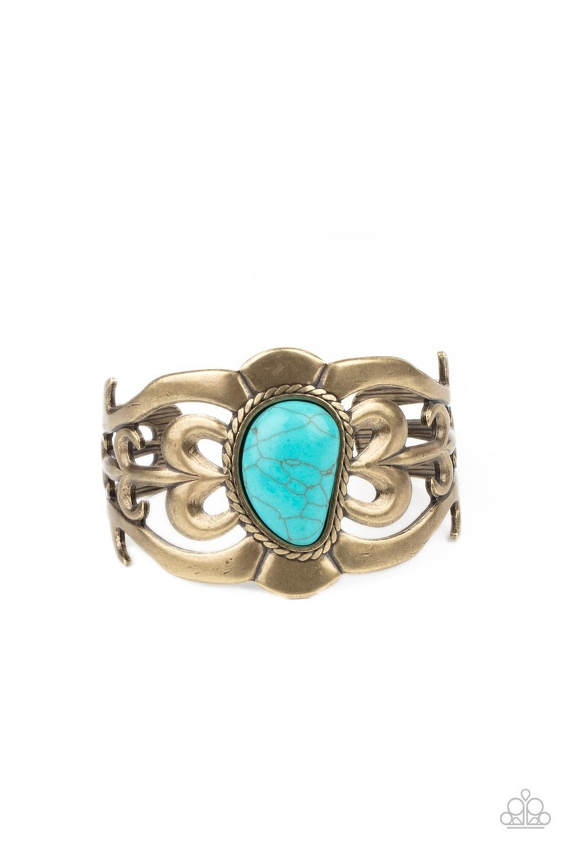 The MESAS Are Calling Brass Bracelet
