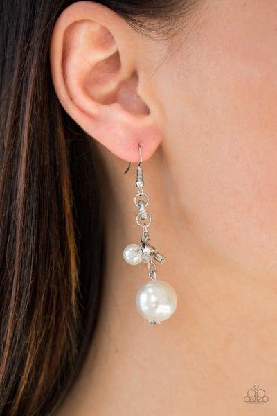 Timelessly Traditional White Earring