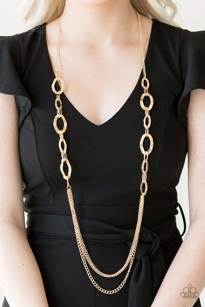 Street Beat Gold Necklace - PRECLAIM