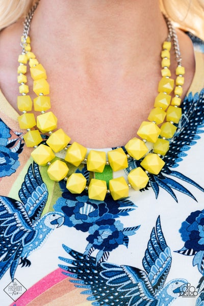 Summer Excursion Yellow Necklace -  FASHION FIX