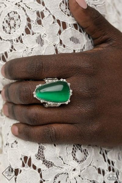 Newport Nouveau Green Ring
