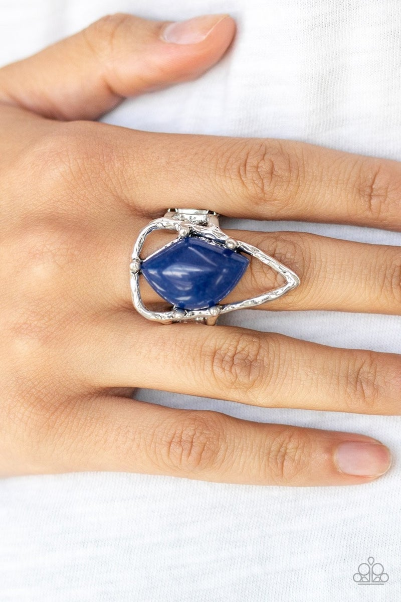 Get The Point Blue Ring - Sparkle with Suzanna