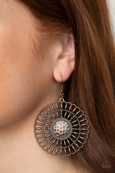 Rustic Groves Copper Earring