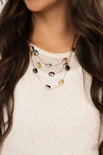 Downtown Reflections Gold Necklace