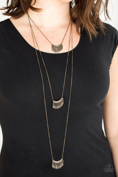 Seasonal Charm Brass Necklace