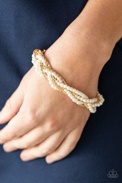 Vintage Variation Gold  Pearl Bracelet