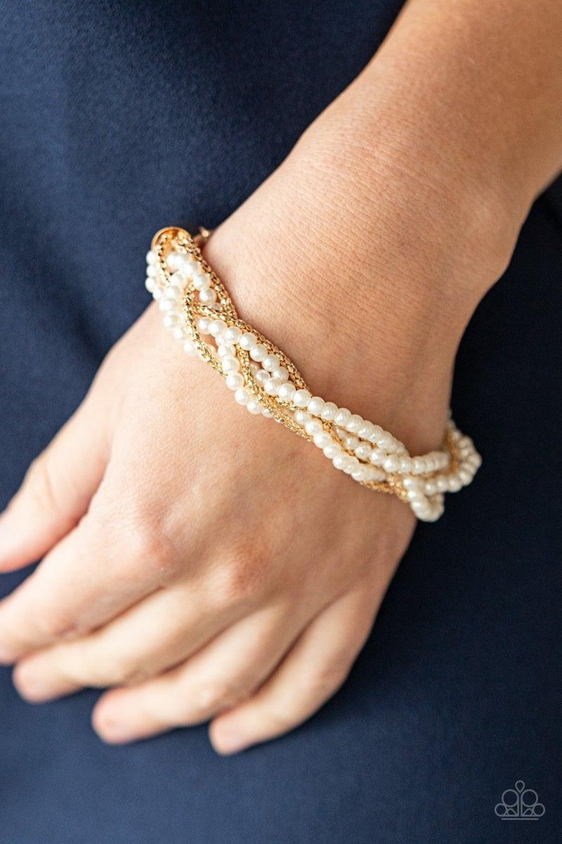 Vintage Variation Gold  Pearl Bracelet - PREORDER