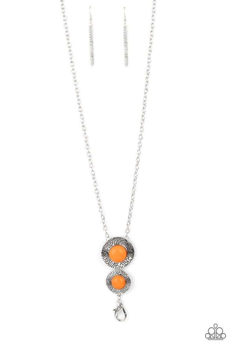 Abstract Artistry Orange Lanyard