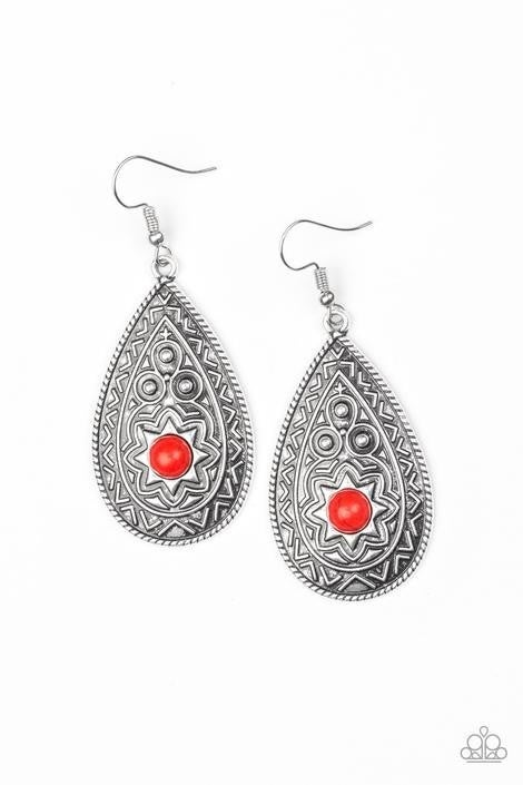 Summer Sol Red Earring - Sparkle with Suzanna
