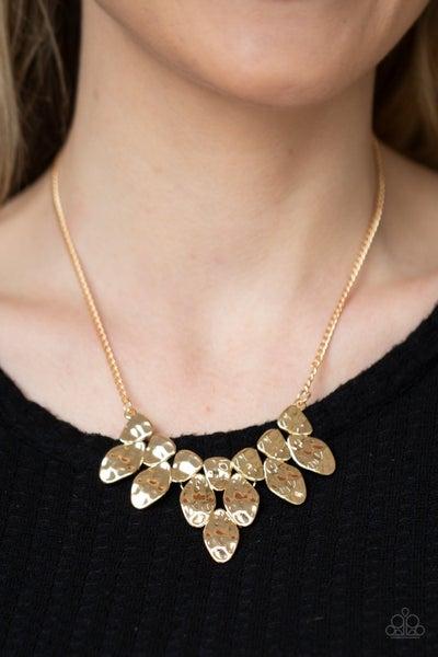 Rustic Smolder Gold Necklace