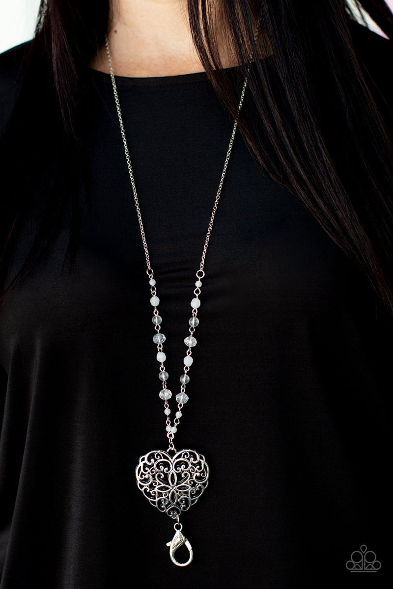 Doting Devotion Silver Heart Lanyard - PREORDER