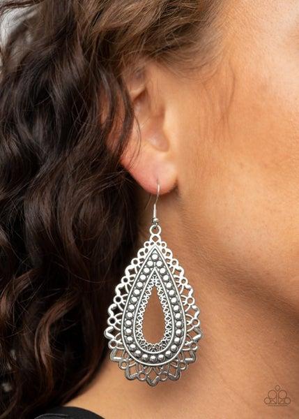 Texture Garden Silver Earring