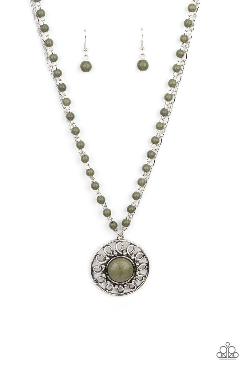 Sahara Suburb Green Necklace - PREORDER