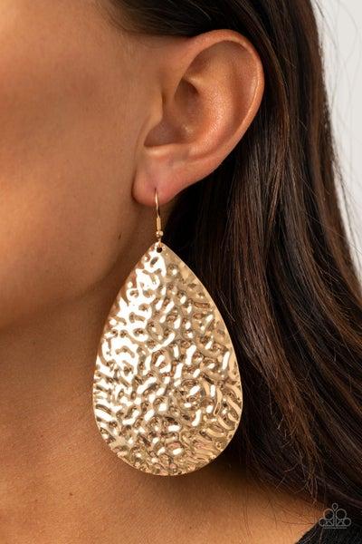 Metallic Mirrors Gold Earring