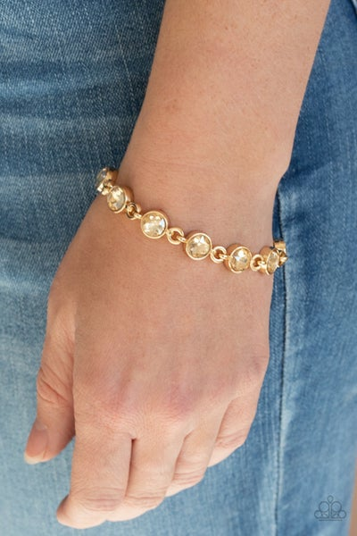 First In Fashion Show Gold Bracelet
