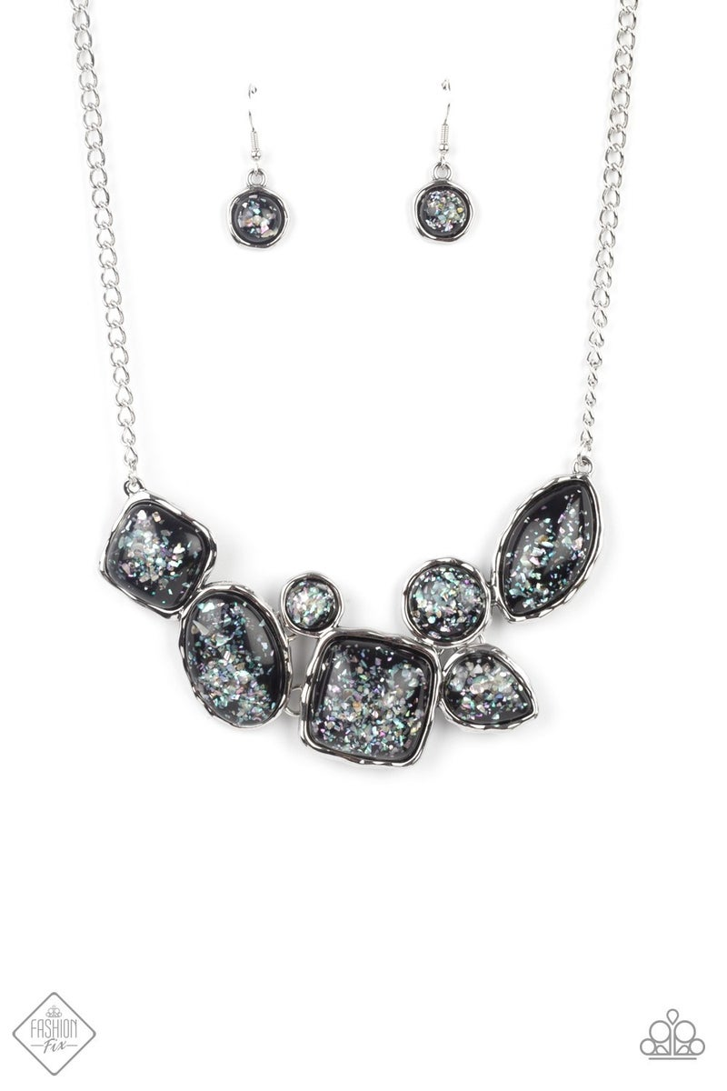 So Jelly Black Necklace - Sparkle with Suzanna