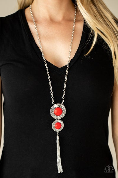 Abstract Artistry Red Necklace