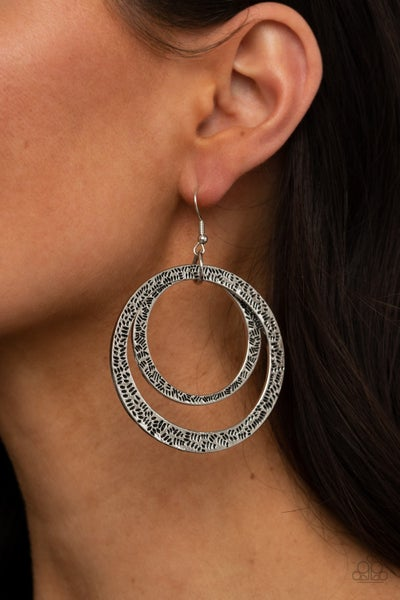 Rounded Out Silver Earring