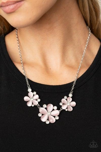 Effortlessly Efflorescent Pink Necklace