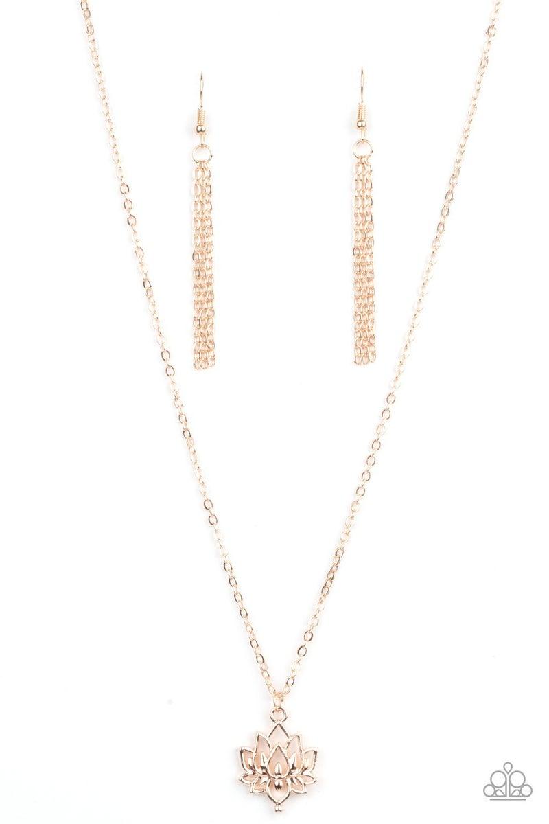 Lotus Retreat Rose Gold Necklace